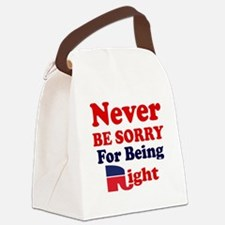 REPUBLICAN - NEVER BE SORRY FOR B Canvas Lunch Bag
