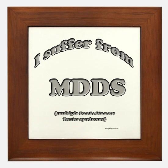 Dandie Syndrome Framed Tile