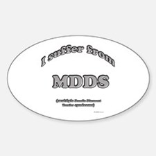 Dandie Syndrome Oval Decal