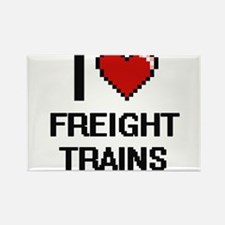 I love Freight Trains Magnets