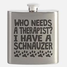I Have A Schnauzer Flask