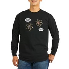 I've Lost An Electron Long Sleeve Black T-Shirt