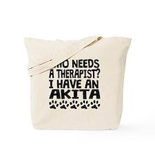 I Have An Akita Tote Bag