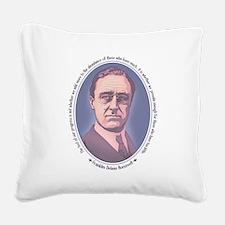 FDR - Progress Square Canvas Pillow