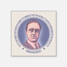 "FDR - Progress Square Sticker 3"" x 3"""