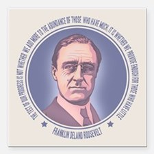 "FDR - Progress Square Car Magnet 3"" x 3"""
