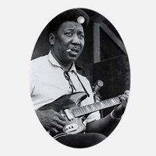 Muddy waters Oval Ornament