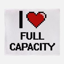 I love Full Capacity Throw Blanket