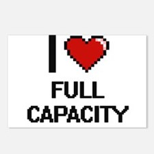 I love Full Capacity Postcards (Package of 8)