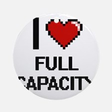 I love Full Capacity Ornament (Round)