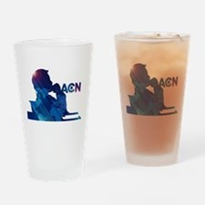 The Newsroom ACN Blue Drinking Glass