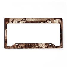 Pre Raphaelite License Plate Holder