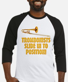 Trombonists Slide In To Position Baseball Jersey