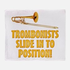 Trombonists Slide In To Position Throw Blanket