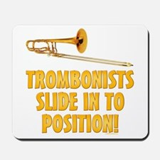 Trombonists Slide In To Position Mousepad