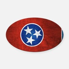 Tennessee State Flag Oval Car Magnet