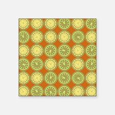 "Round clocks pattern Square Sticker 3"" x 3"""
