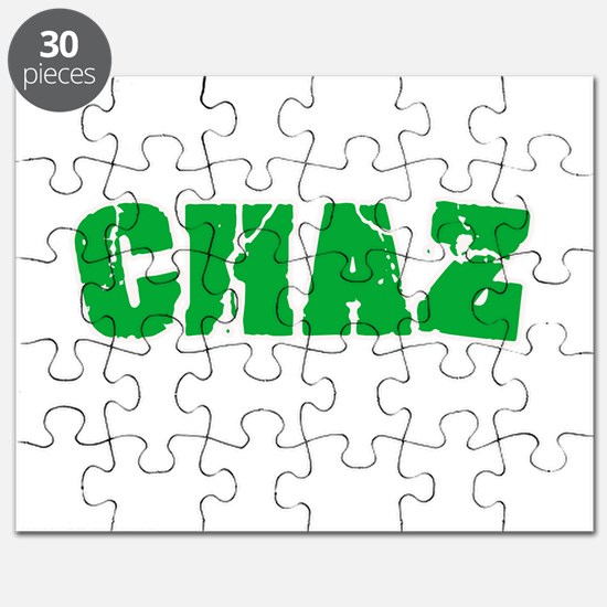 Chaz Name Weathered Green Design Puzzle