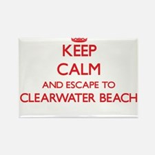 Keep calm and escape to Clearwater Beach F Magnets