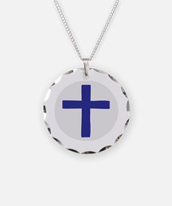 A Cross of Blue Necklace