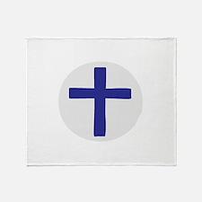 A Cross of Blue Throw Blanket