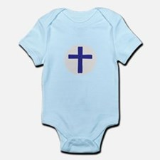 A Cross of Blue Body Suit