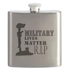 Military Lives Matter Flask