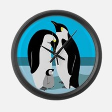 Penguin Lover Gifts Large Wall Clock
