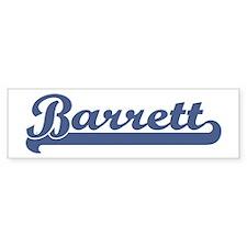 Barrett (sport-blue) Bumper Bumper Sticker