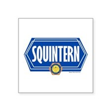 "Bones Squintern Square Sticker 3"" x 3"""