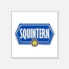 "Bones Squintern Square Sticker 3"" x 3"""