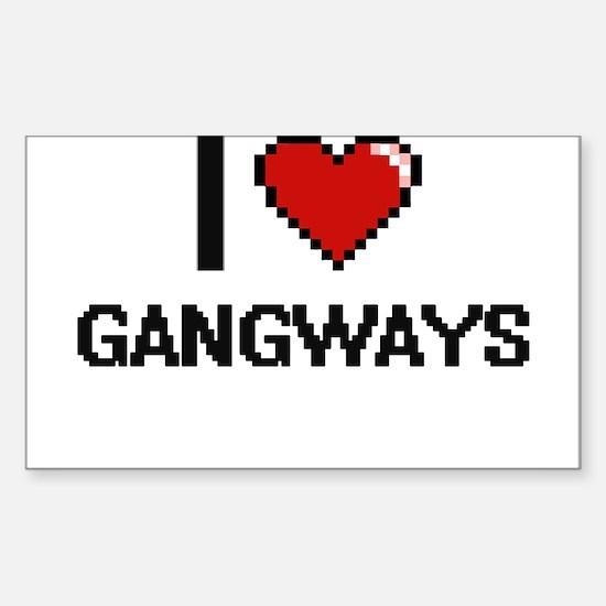 I love Gangways Decal