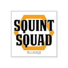 """Bones Squint Squad Square Sticker 3"""" x 3"""""""