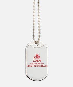 Keep calm and escape to Indian Rocks Beac Dog Tags