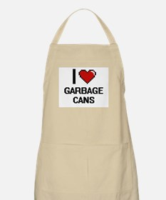 I love Garbage Cans Apron