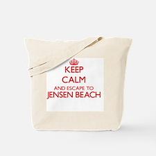 Keep calm and escape to Jensen Beach Flor Tote Bag