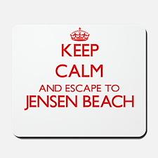 Keep calm and escape to Jensen Beach Flo Mousepad
