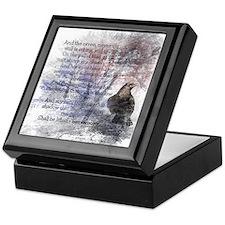 Edgar Allan Poe The Raven Poem Keepsake Box