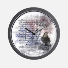 Edgar Allan Poe The Raven Poem Wall Clock