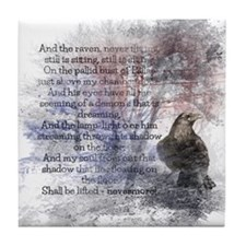 Edgar Allan Poe The Raven Poem Tile Coaster