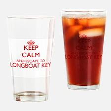 Keep calm and escape to Longboat Ke Drinking Glass