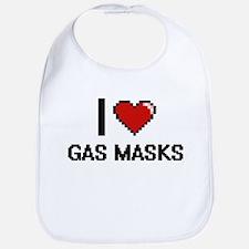 I love Gas Masks Bib