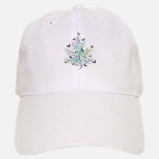 Flourishes and butterflies Baseball Baseball Cap