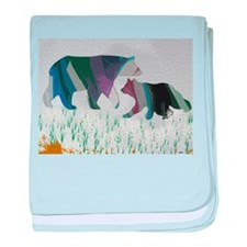 Bears caught in a storm baby blanket
