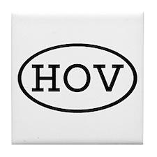 HOV Oval Tile Coaster