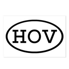 HOV Oval Postcards (Package of 8)