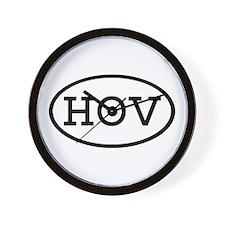 HOV Oval Wall Clock