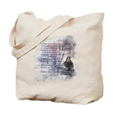 Edgar Allan Poe The Raven Poem Tote Bag