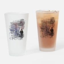 Edgar Allan Poe The Raven Poem Drinking Glass
