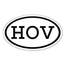 HOV Oval Oval Decal